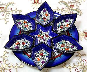 キュタフヤ陶器絵皿